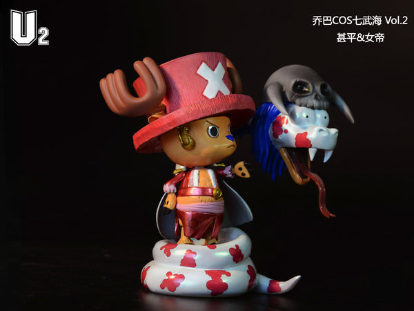 One Piece U2 Cos Chopper Vol. 2 Boa Hancock and Jinbe Resin Statue (Set of 2)