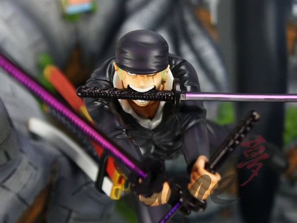 One Piece Yume Roronoa Zoro vs Pica Resin Statue