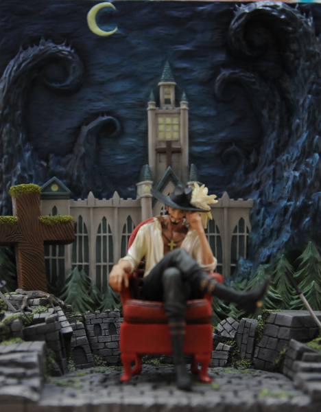 One Piece - Zhe Men - Dracule Mihawk Glow In The Dark Background Accessory Set