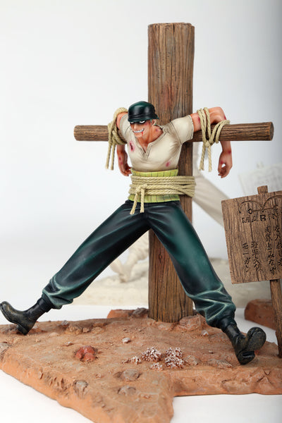 One Piece Three-3 Roronoa Zoro First Appearance Marine Base Ver. Resin Statue