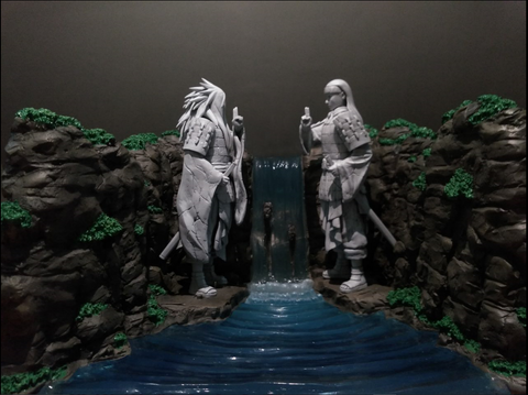 [PO] Naruto Shippuden Fire Phenix 1.5 Valley of the End Diorama Waterfall Background