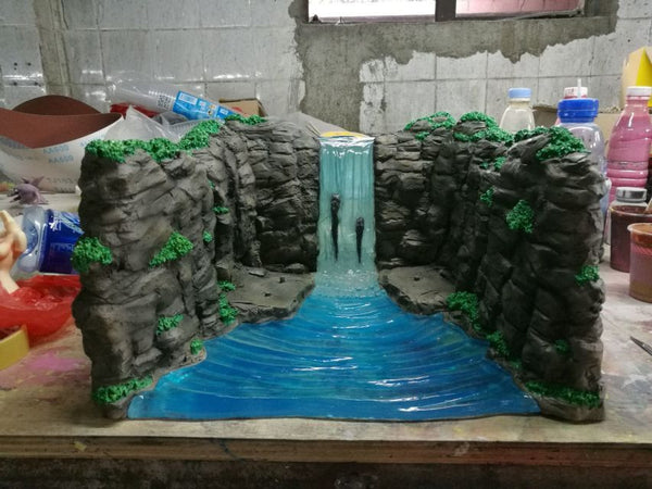 Naruto Shippuden Fire Phenix 1.5 Valley of the End Diorama Waterfall Background