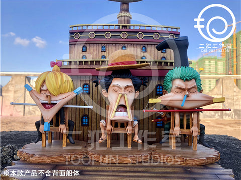One Piece - TooFun Studios - TFUN008-010 SD Monkey D. Luffy / Roronoa Zoro / Sanji Resin Statue