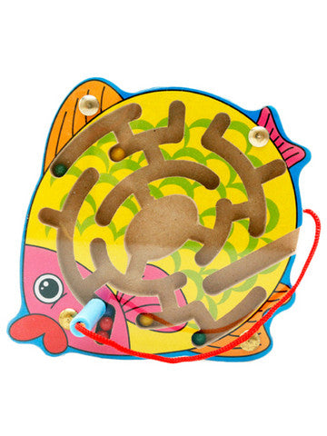 Magnetic Fish Wooden Maze Toy