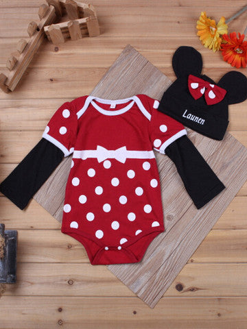Baby Bodysuit with Hat and Socks Set