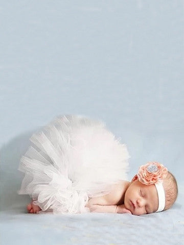 Flower Headband Cute Baby Skirt
