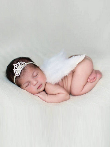 Angel Wing with Pearls Headband