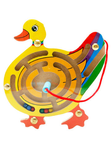 Duck Magnetic Pen Attract Balls Maze Toy
