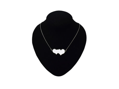 2 Silver Heart Necklace