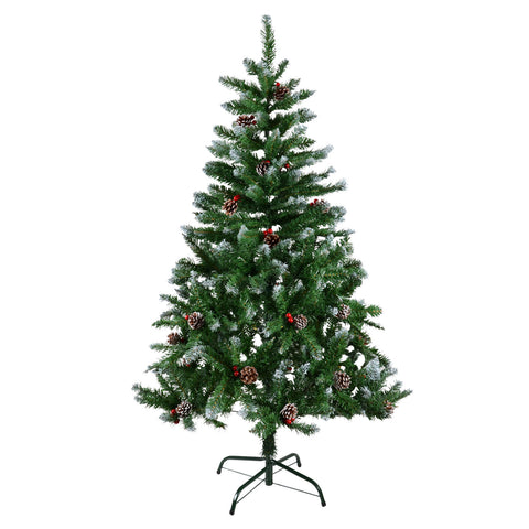 Christmas Tree with Long cones and Cherries-150cm