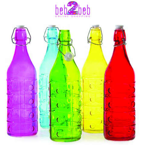 Colorful Glass Water Bottle
