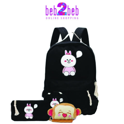 Rabbit Canvas School Bag