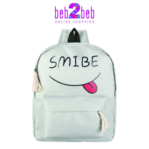 Smile Face Back Bag