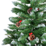 Christmas Tree with Round Pine Cones and Cherries-200cm