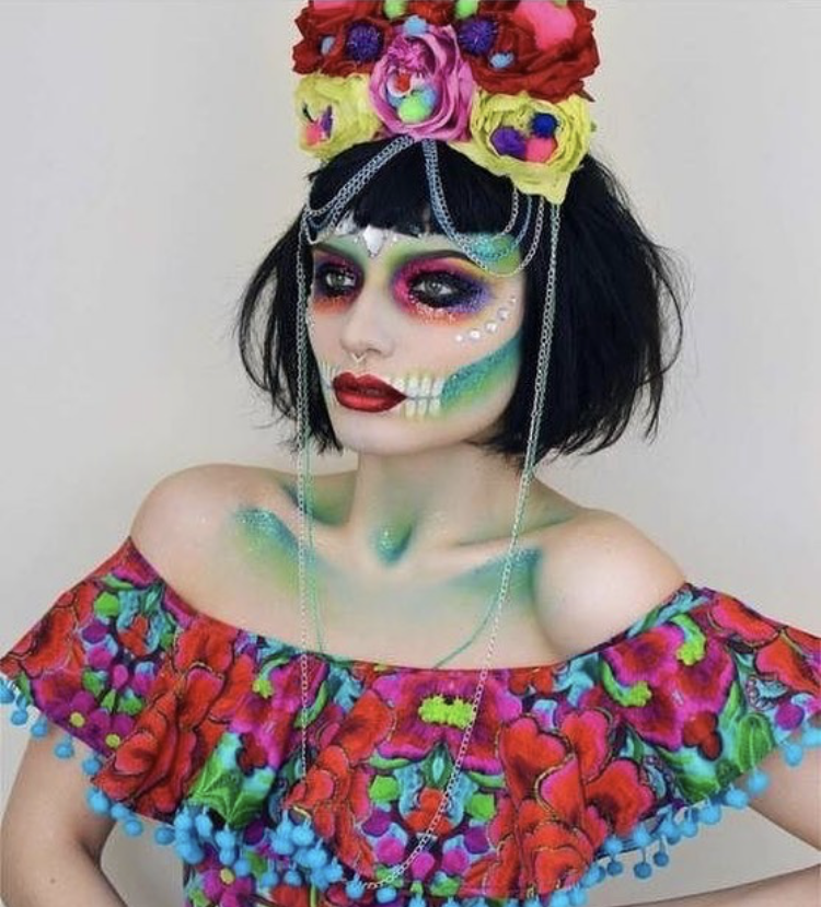 Folklorico Frill Crop Top