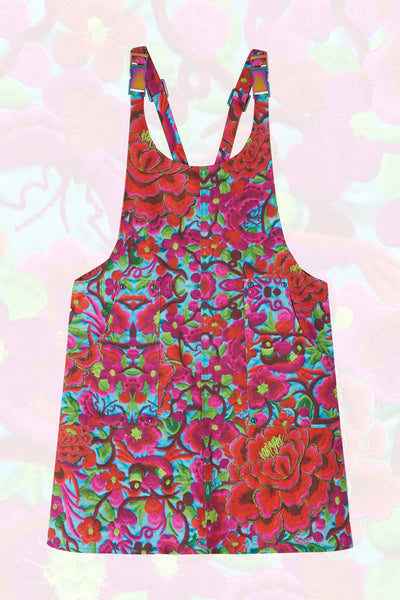 Folklorico Printed Pinafore Dress