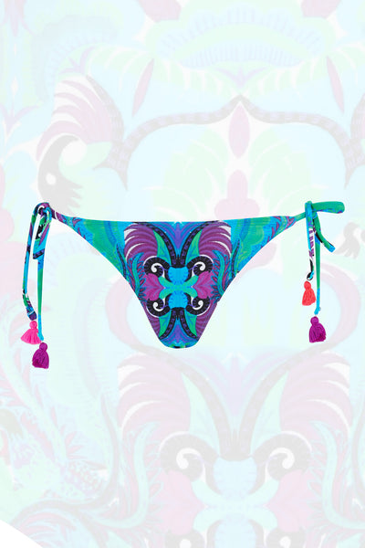 Bikini Bottoms in Tribal Tales Blue