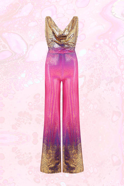 Körpermitose Purple, Pink and Gold Iridescent Jumpsuit