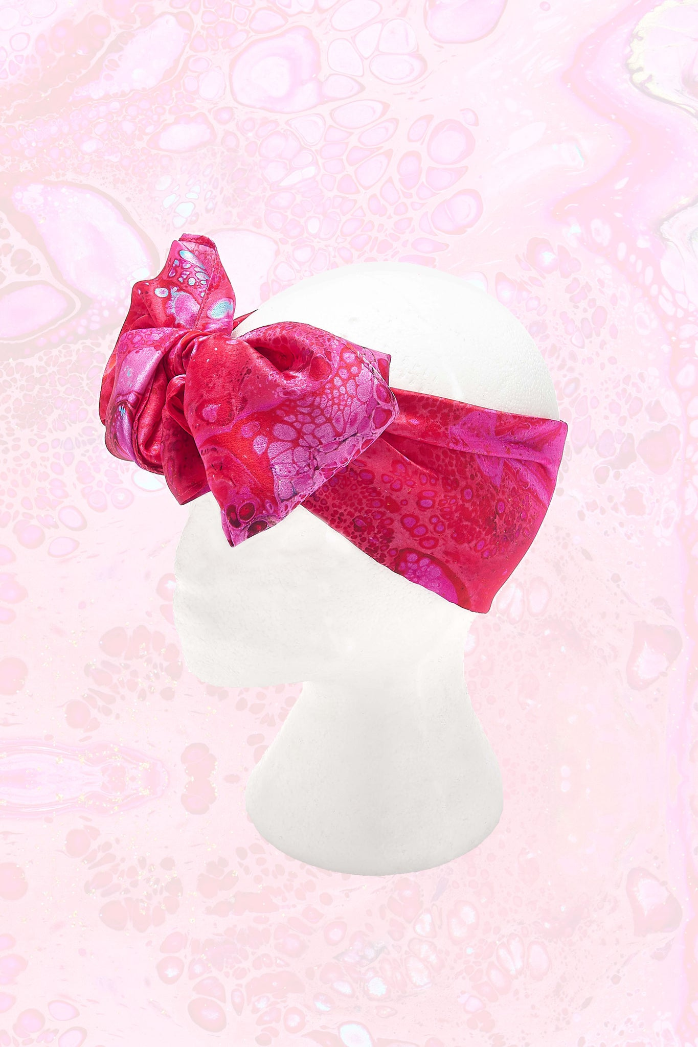 Kleo Small Deep Pink Printed Headscarf