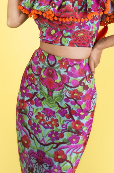 Folklorico Fitted Skirt