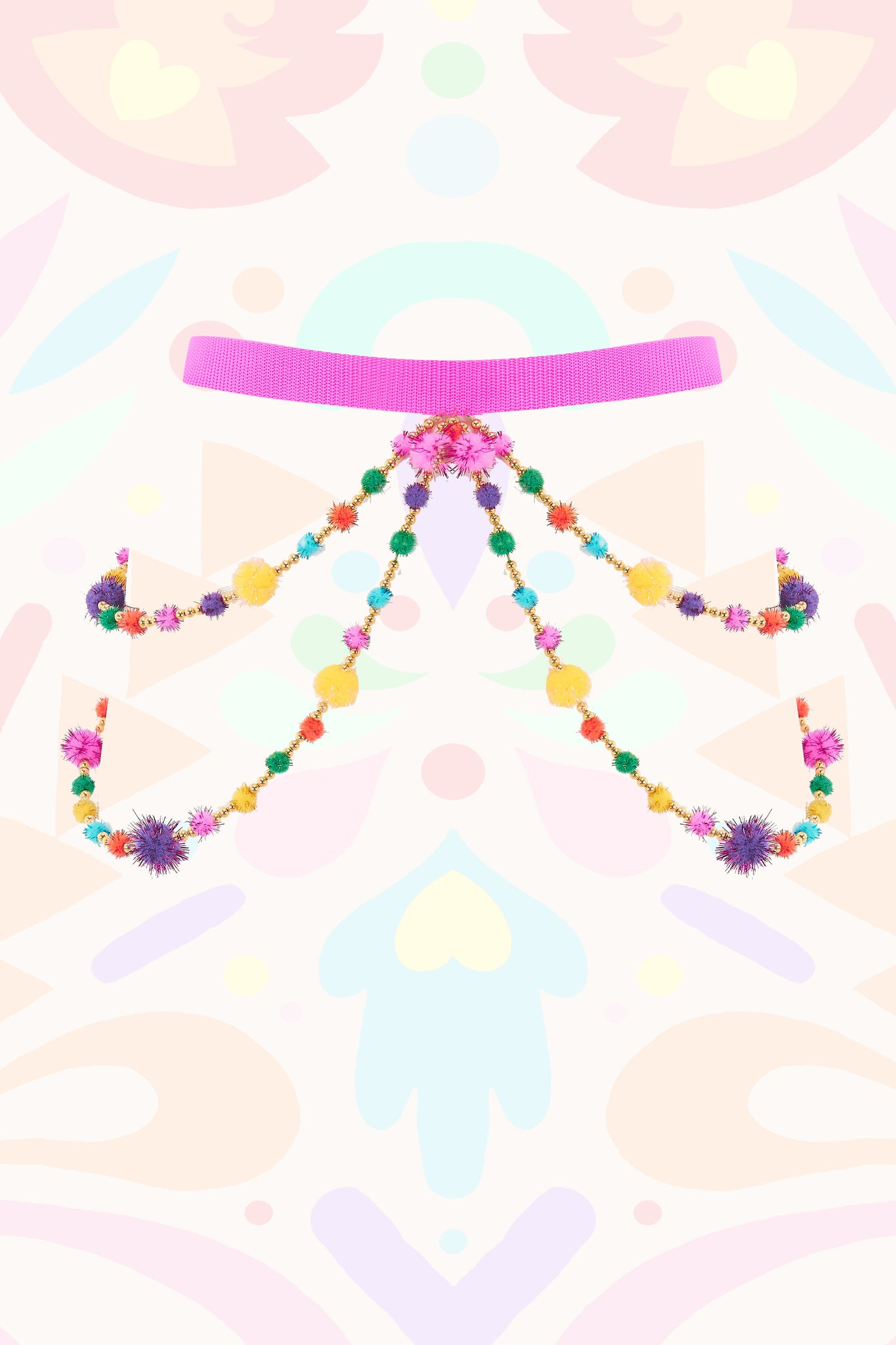 Pom Pom Body Chain Belt