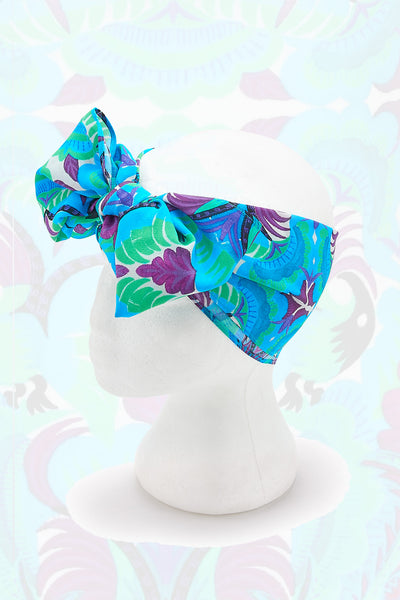 Tribal Tales Blue Printed Headscarf