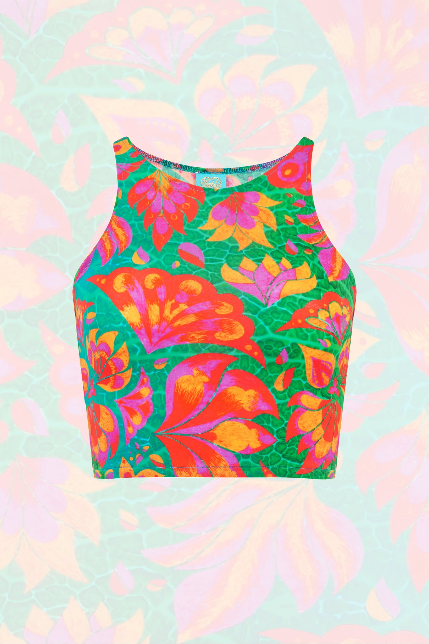 Vendala Sleeveless Crop Top