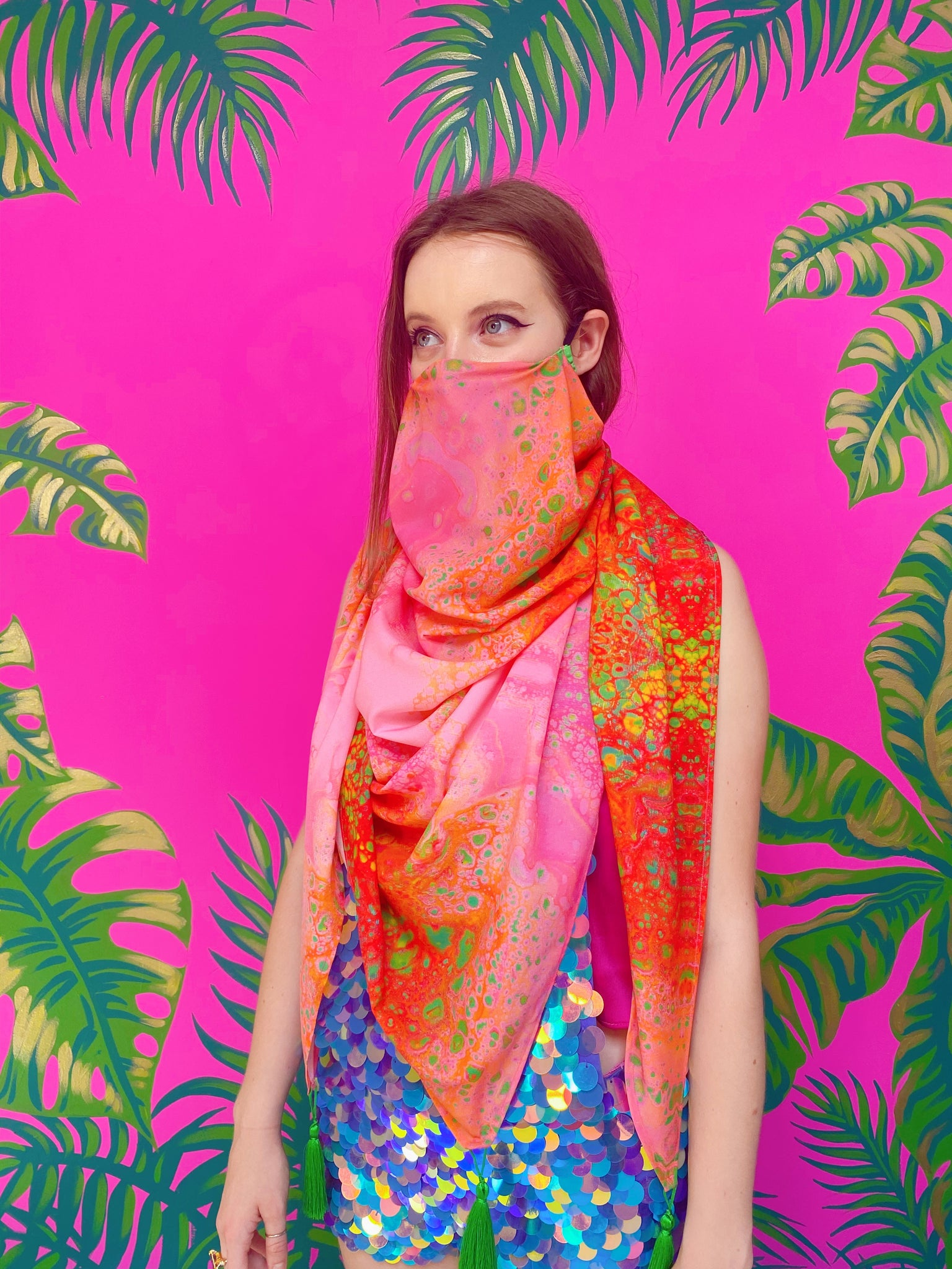 Mitosis Large Scarf Face Mask