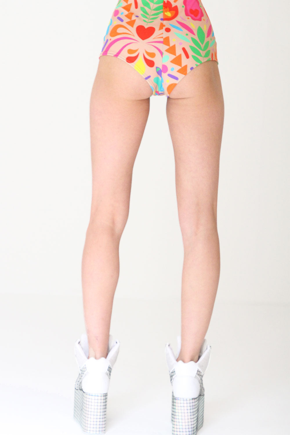 Rainbow Beige Hot Pants