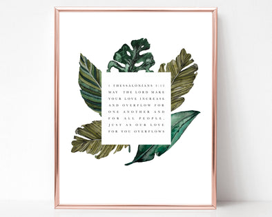 Christian Gifts | Christian Wall Art | 1 Thessalonians 3 12 | Love