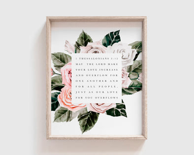 Christian Gifts | Christian Wall Art | 1 Thessalonians 3:12 | [theme] | [occasion]  | [colour] |
