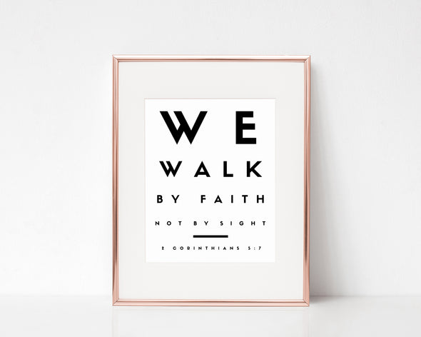 Christian Gifts | Christian Wall Art | 2 Corinthians 5:7 | Wondrous Works