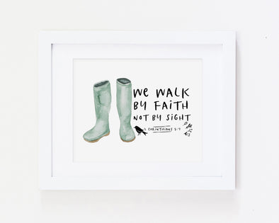 Christian Gifts | Christian Wall Art | 2 Corinthians 5:7 | [theme] | [occasion]  | [colour] |