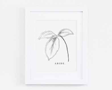 Christian Gifts | Christian Wall Art | Abide | [theme] | [occasion]  | [colour] |