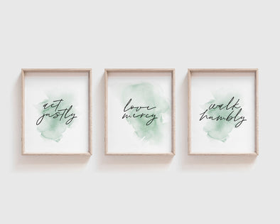 Christian Gifts | Christian Wall Art | Micah 6:8 Act Justly | [theme] | [occasion]  | [colour] |