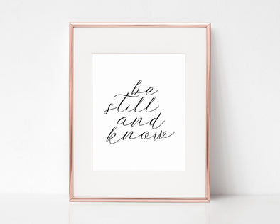 Christian Gifts | Christian Wall Art | Be Still & Know | [theme] | [occasion]  | [colour] |