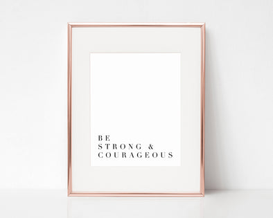 Christian Gifts | Christian Wall Art | Be Strong & Courageous | [theme] | [occasion]  | [colour] |