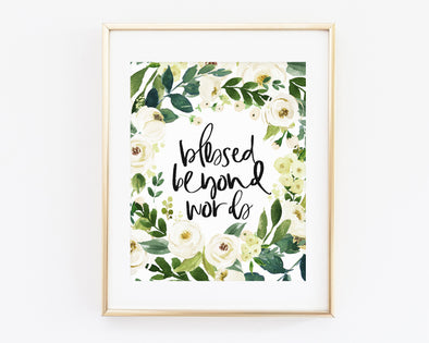 Christian Gifts | Christian Wall Art | Blessed Beyond Words | [theme] | [occasion]  | [colour] |