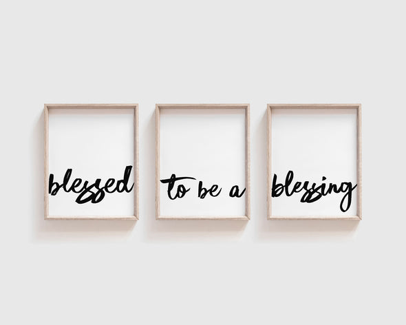 Christian Gifts | Christian Wall Art | Blessed To Be A Blessing | [theme] | [occasion]  | [colour] |