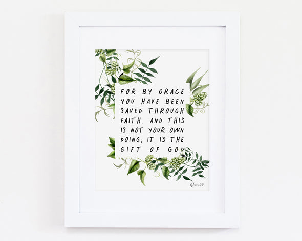 Christian Gifts | Christian Wall Art | Ephesians 2:8 | [theme] | [occasion]  | [colour] |