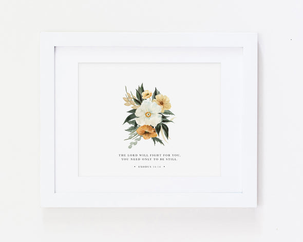 Christian Gifts | Christian Wall Art | Exodus 14:14 | [theme] | [occasion]  | [colour] |
