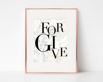 Christian Gifts | Christian Wall Art | Forgive | [theme] | [occasion]  | [colour] |