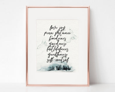 Christian Gifts | Christian Wall Art | Galatians 5:22-23 Fruit of the Spirit | [theme] | [occasion]  | [colour] |