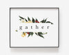 Gather | Christian Printables | Bible Verse Wall Art | Christian Gifts | Scripture Decor | Wondrous Works | Etsy | Floral