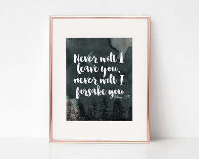 Christian Gifts | Christian Wall Art | Hebrews 13:5 | [theme] | [occasion]  | [colour] |