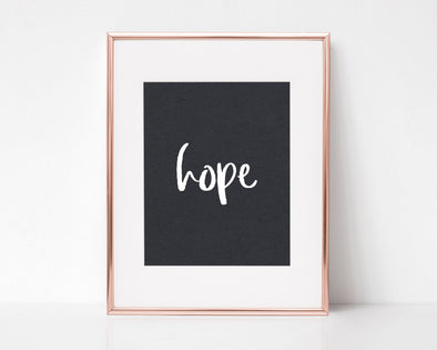 Hope | Hebrews 6:19 | Christian Printables | Bible Verse Wall Art | Christian Gifts | Scripture Decor | Wondrous Works | Etsy | Black and White