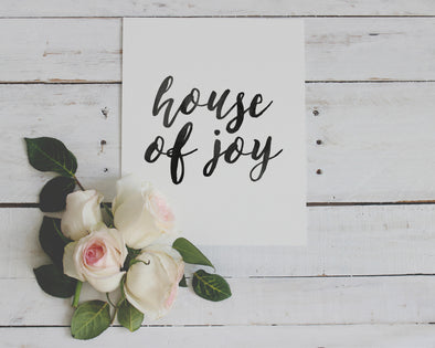 House of Joy | Christian Printables | Bible Verse Wall Art | Christian Gifts | Scripture Decor | Wondrous Works | Etsy | Black and White