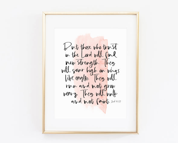 Christian Gifts | Christian Wall Art | Isaiah 40:31 | [theme] | [occasion]  | [colour] |