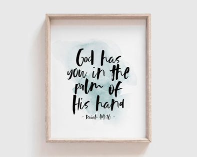 Christian Gifts | Christian Wall Art | Isaiah 49:16 | [theme] | [occasion]  | [colour] |