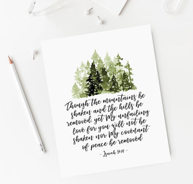 Christian Gifts | Christian Wall Art | Isaiah 54:10 | [theme] | [occasion]  | [colour] |